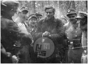 1085: Preživeli in ujeti borec Pohorskega bataljona Maks Kunaver - Sulc, ustreljen kot talec 30. julija 1943, Pohorje, 8. 1. 1943, foto Ordelt.