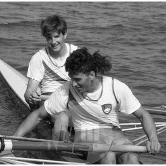 Iztok Čop in Denis Žvegelj, Bled, 1992.