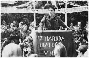 199/1: Zborovanje primorskih Slovencev pri Šmarju v Vipavski dolini, 25. 7. 1944.