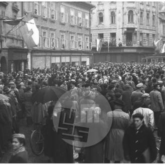 Ljubljančani so se množično poslovili od tramvaja 22. decembra 1958.