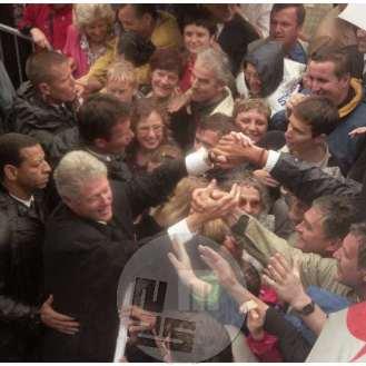 Bill Clinton, prvi predsednik ZDA, ki je obiskal Slovenijo, Ljubljana, 1999.