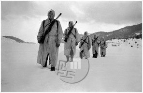 553_8: Patrola Notranjskega odreda je pred sovražniki čuvala široko območje na Kočevskem, Babno polje, 1944/1945.