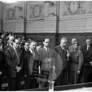 FS-3991-10: Sodni proces proti ing. Nagodetu in Furlanu, Ljubljana, 2. 8. 1947, foto Božo Štajer.