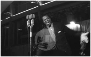 MC590401_5: Koncert legendarnega trobentača Louisa Armstronga na Gospodarskem razstavišču v Ljubljani, 1. april 1959.