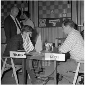 MŠ161_7: Šahovski turnir na Bledu, dvoboj Boby Fischer - Keres, 1961.