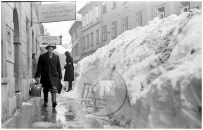 Veliki snežni zameti v Ljubljani leta 1952.