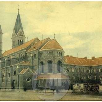 SL5451: Pogled na Frančiškansko cerkev Matere Milosti (danes Matere Usmiljenja) v Mariboru.