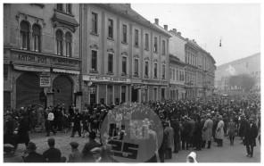 SL5964: Sprejem pevcev, koroških Slovencev, Maribor, 10. 11. 1929.