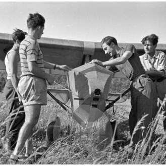 Priprava jadralnega letala za polet, Bloke, 4. 6. 1947.