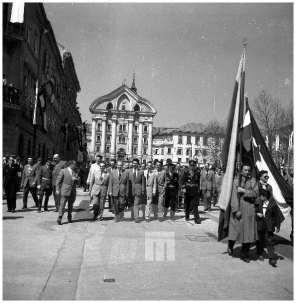 Prvomajska parada, Ljubljana, 1. 5. 1955.