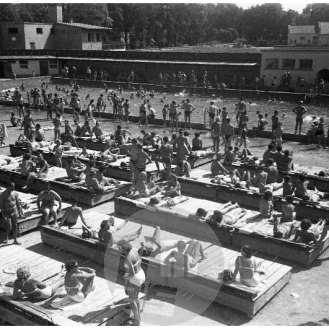 Kopališče Ilirija, Ljubljana, julij 1951.