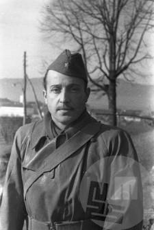 Golob Roman, ekonom Glavnega štaba v Črnomlju, 10.4.1945. Foto: Franc Cerar