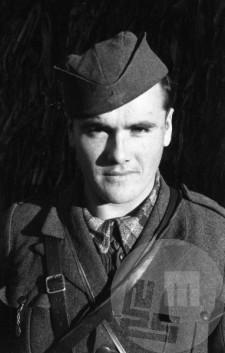Kumše Karl, namestnik komandanta bataljona Tomšičeve brigade. Foto: Vinko Bavec
