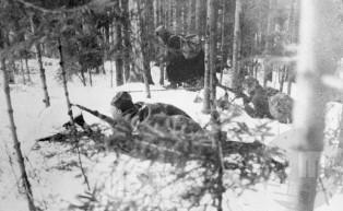 Na položajih pri gradu Lindek 15. februarja 1944.
