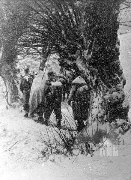 14. divizija na Paškem Kozjaku 14. februarja 1944. Foto: Jože Petek