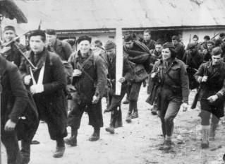 Enote 14. divizije pri Sv. Jani na Hrvaškem 10. januarja 1944. Foto: Jože Petek