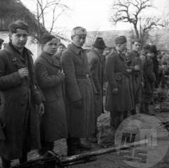 Bračičeva brigada v Bušinji vasi pred odhodom na Štajersko. Foto: M. Trobec