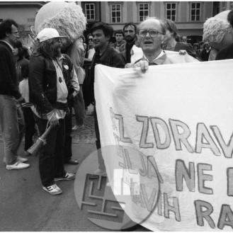 Ekološki pohod po Ljubljani, maj 1988.
