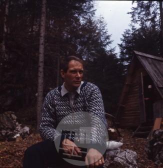 Aleš Kunaver na nedeljskem družinskem izletu v Bohinju med leti 1972 in 1975. Foto: Dušica Kunaver.