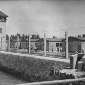Taborišče Dachau, april 1945, foto: Jugofoto.