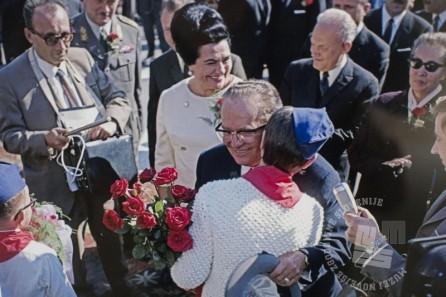 FS3332_1: Tito na obisku v Gornji Radgoni, 12. 10. 1969, foto: Leon Jere.