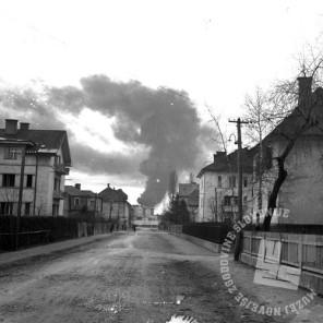 P_308: Napad na kolodvor, 23. marec 1945, foto: dr. Jakob Prešern.