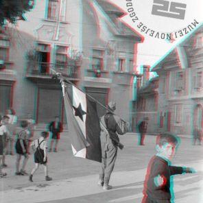 FS2239_21: Prihod partizanov na glavni trg v Radovljici, 10. maj 1945. Foto: Finžgar. The arrival of the Partisans to the main square in Radovljica, May 10th, 1945. Photo: Finžgar.