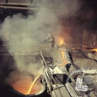 FKdia_4: V železarni Jesenice, okoli leta 1964, foto: Franc Kolman.