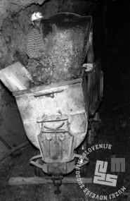 DE3100_5: Delo v rudniku Idrija, november 1965, foto: Svetozar Busić.