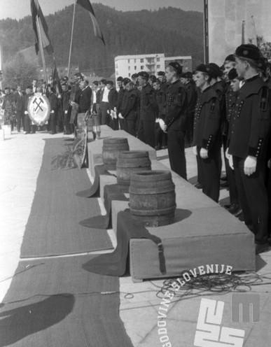 DE3807_11: Dan rudarjev v Velenju, 3. julij 1966, foto: Svetozar Busić.