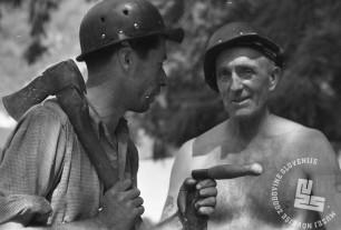 EP89_17: Motiv rudarja. Trbovlje, september 1950, foto: Marijan Pfeifer