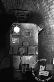 FS4168_3: Električni vlak v Rudniku Trbovlje, november 1947, foto: Leon Jere.