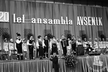 MC7404_32: Praznovanje 20. obletnice obstoja v Hali Tivoli, april 1974, foto: Marjan Ciglič, hrani: MNZS.