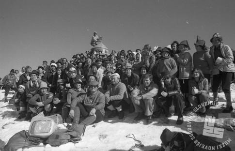 DE5457_2: Pohod sto žensk na Triglav. 1975. Foto: Egon Kaše.