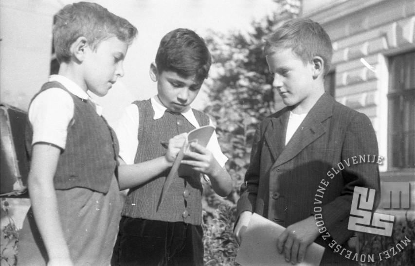 Prvi pomembni zapiski. Ljubljana, 1.9.1947. Foto: Vlastja Simončič
