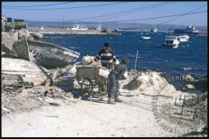 Zaliv na otoku Arwad. / The bay on the Arwad Island.