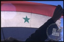 Del sirijske zastave na ladji. / A part of the Syrian flag on the ship.