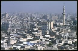 Pogled iz citadele na Alepo. / A view through the city from the citadel of Aleppo.