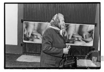 Na volišča in glas plebiscitne podpore so vabili tudi plakati. Foto: Tone Stojko.