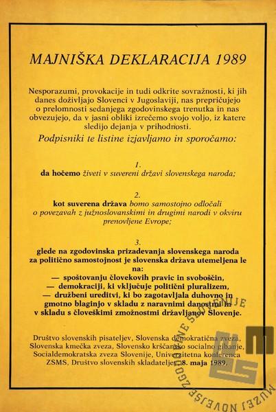 Majniška deklaracija 1989