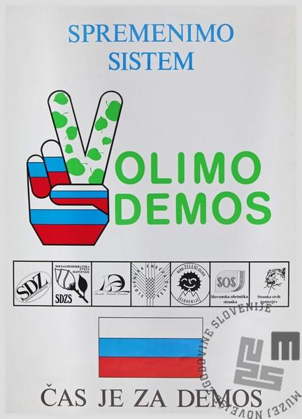 Volilni plakat Demosa.