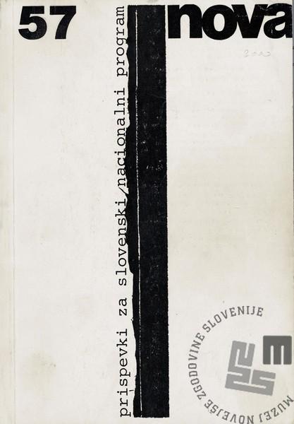 Naslovnica 57. številke Nove revije