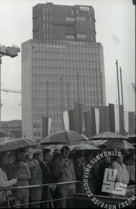 DE6405/ 131: Slovo od predsednika Josipa Broza Tita, 5. 5. 1980, Ljubljana, foto: Janez Pukšič, zbirka časopisne hiše Delo.