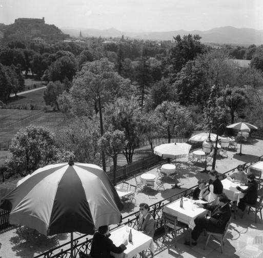 KO_5669: Hotel Bellevue, Ljubljana, 1955, foto: Jože Mally.