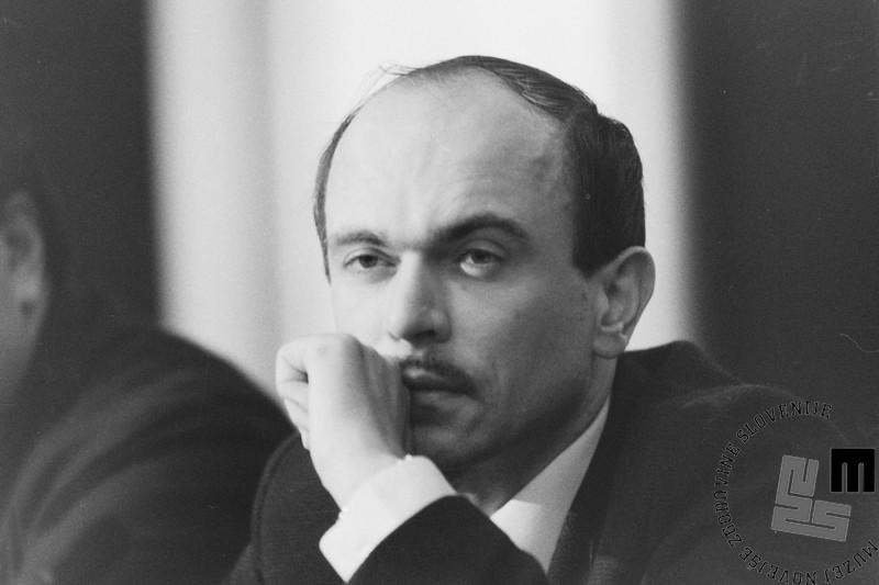 NB960_69: Dr. Janez Drnovšek v Davosu, januar / februar, 1991: Foto: Nace Bizilj.