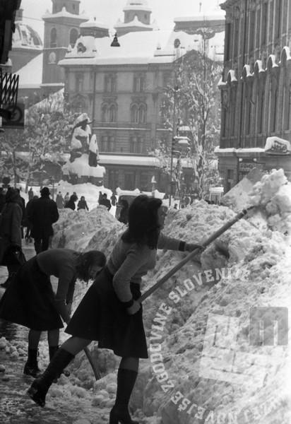 MC7603: Zimske razmere v Ljubljani. Foto: Marjan Ciglič, hrani: MNZS.