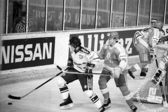NB9103_178: Svetovno prvenstvo skupine B v hokeju na ledu marec-april 1991. Foto: Nace Bizilj.