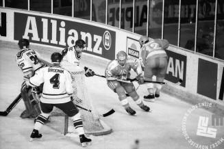 NB9103_179: Svetovno prvenstvo skupine B v hokeju na ledu marec-april 1991. Foto: Nace Bizilj.