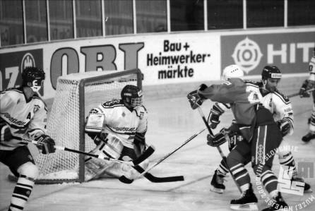 NB9103_181: Svetovno prvenstvo skupine B v hokeju na ledu marec-april 1991. Foto: Nace Bizilj.