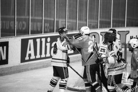 NB9103_183: Svetovno prvenstvo skupine B v hokeju na ledu marec-april 1991. Foto: Nace Bizilj.